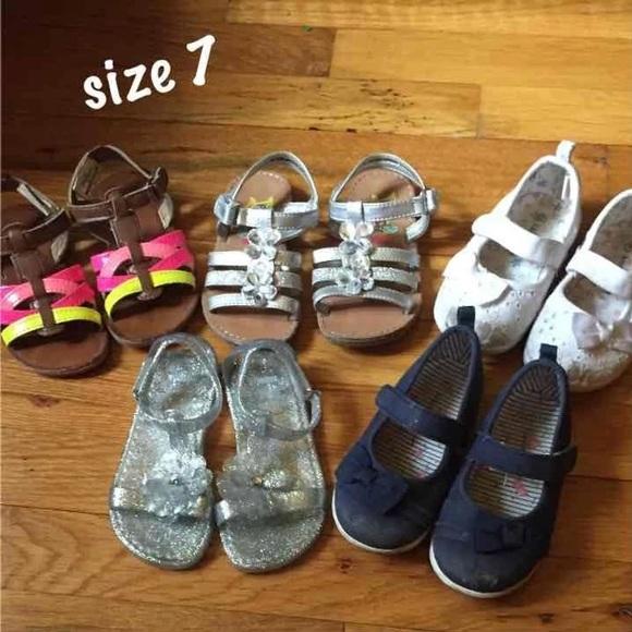 d409681fe4 Size 7/8 shoe lot girls